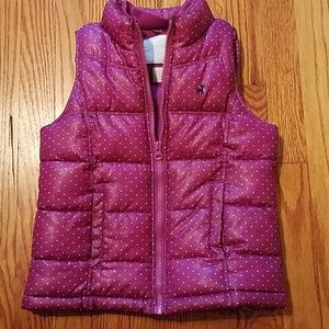 Girls Old Navy Purple Puffer Vest Small 6-7